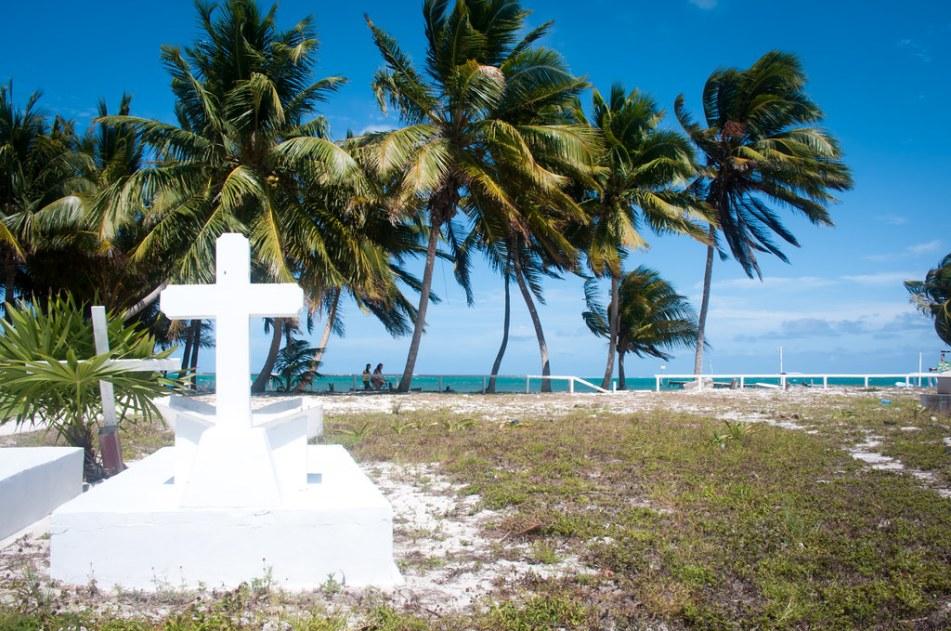 Cemetary in Caye Caulker, Belize