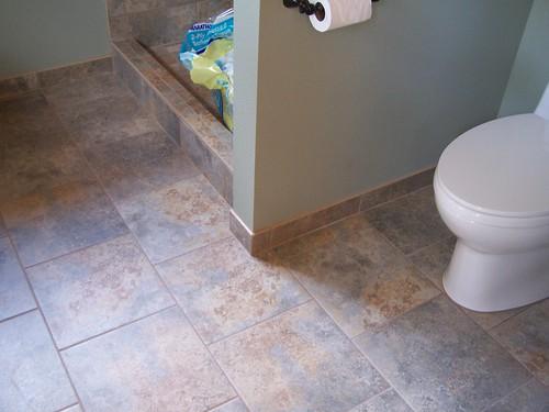 beach house bathroom floor