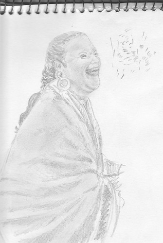 Laughing gipsy woman
