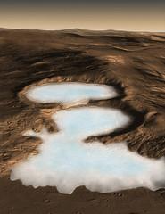 Martian Glacier
