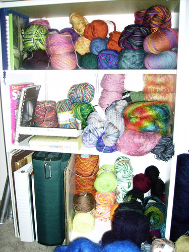 Yarn storage shelves 1 of 2