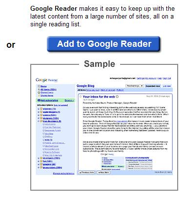 Google Reader - Add To Google Reader