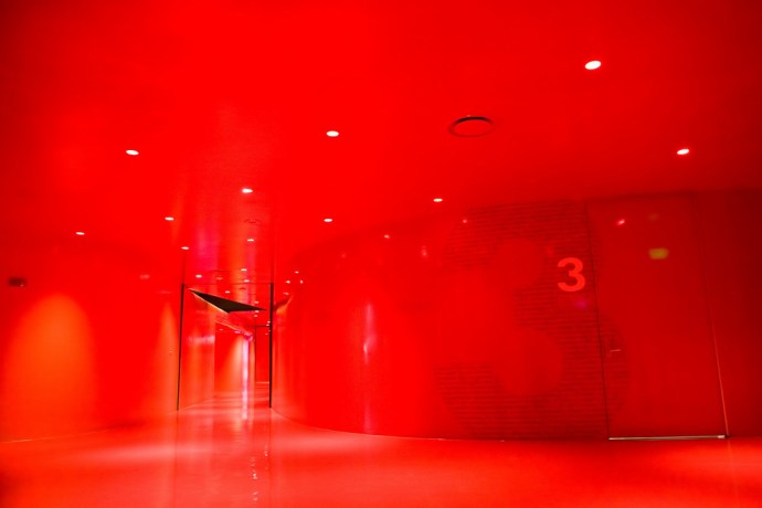 The Red Floor in Seattle Central Library (by Phanix)
