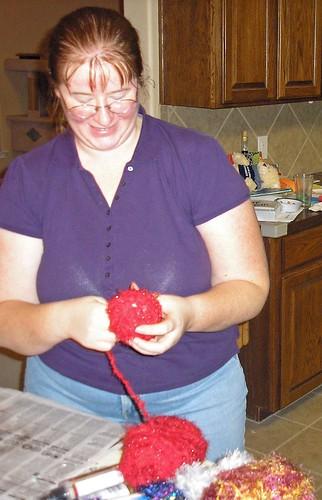Yarn ornaments (5)