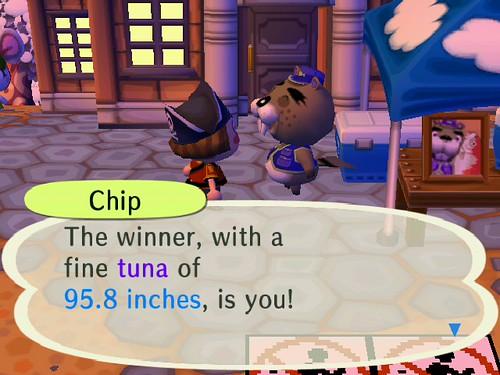 Winning the Fishing Tournament!