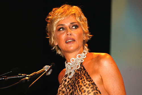 Picture of Sharon Stone dispensing more of her deep thoughts