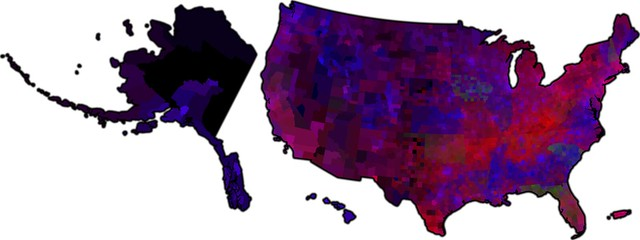 Democratic Primary map (RGB)