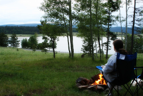 Camping at Big Lake.  Writing in my journal.  I just cant quit you, journal.