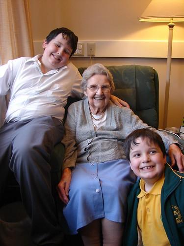 My boys with Great Grandma