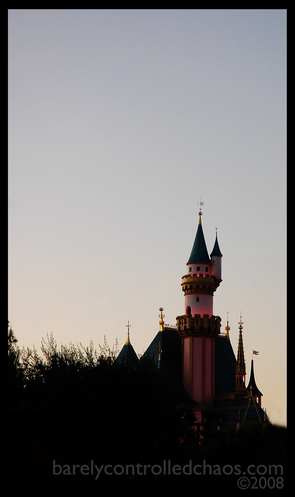 The castle at dusk