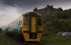 A train passing Harlech Castle (2 for 1 on your rover ticket) on the Cambrian Coast line.