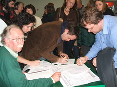 Community members sign anti-Tesco petition
