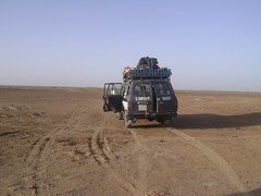 Our car in the desert.