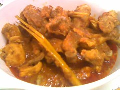 Homecooked satay chicken