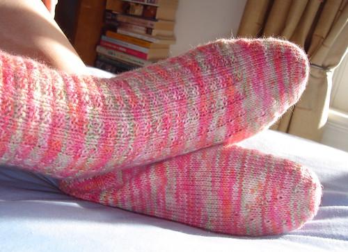 Plushness Harris Tweed Socks