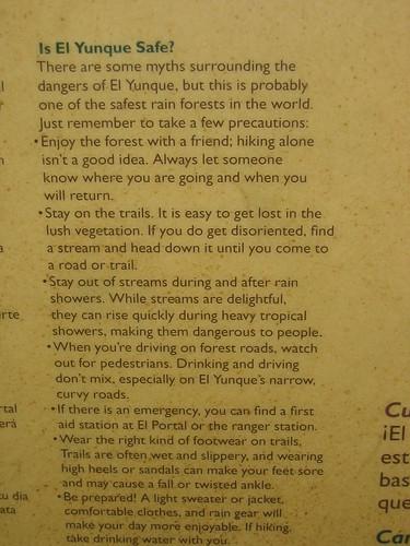 Is El Yunque safe?