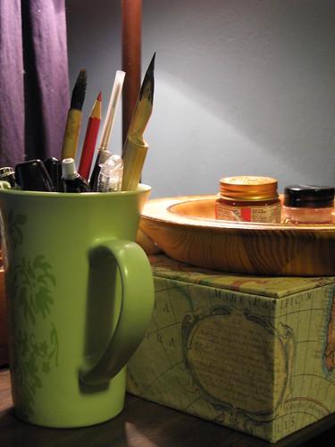 Beside my art-desk