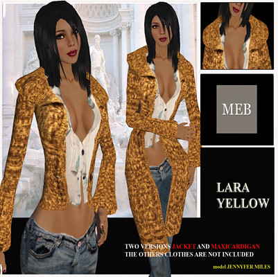 Lara cardigan  yellow