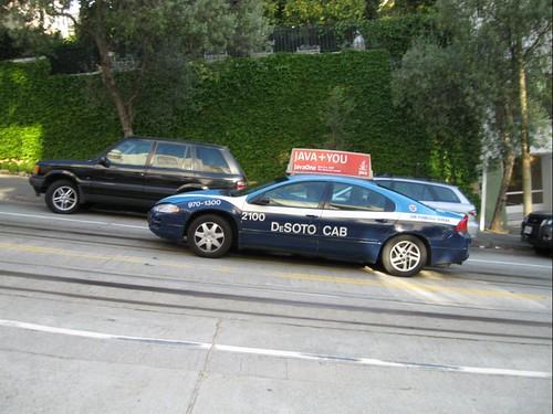 JavaOne pub on taxi