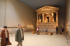 Temple & statues from the Elgin Marbles at the...