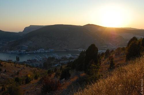 Закат над Балаклавой и Балаклавской бухтой