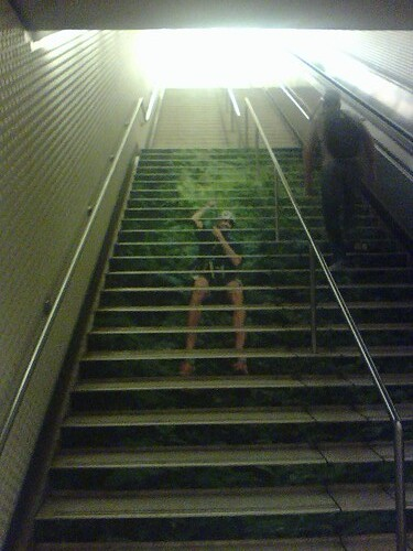 Creepy stairs in Montgomery BART