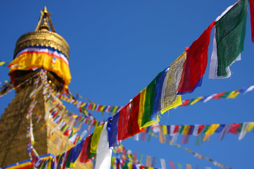 Prayer Flags at Bodnath Stupa