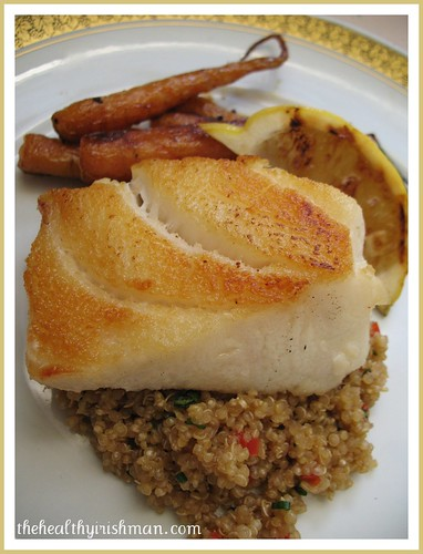 Pan Seared Seabass with Quinoa