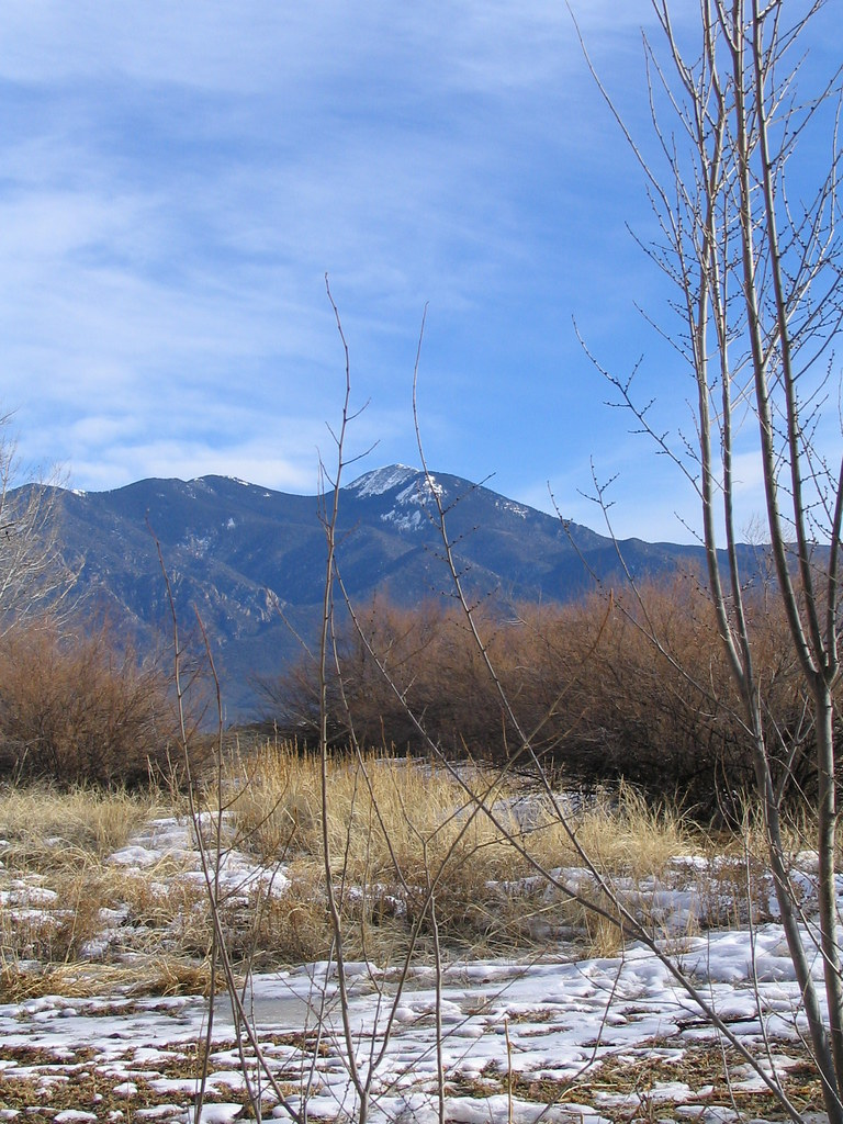 Taos Mountain, behind the Mabel Dodge Luhan House, Taos, New Mexico, February 2007, photo © 2007-2008 by QuoinMonkey. All rights reserved.