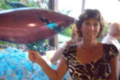 Renee & shark balloon