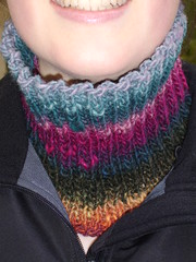 Noro Headband Neckwarmer neck shot