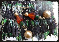 Orecchini rosso verde - Green red earrings MEHNNCO