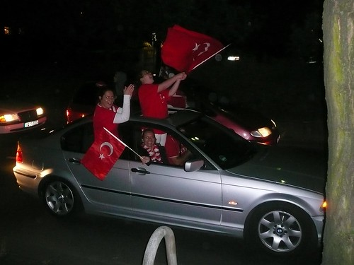 Berlin after the Turkish victory against Croatia