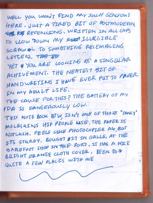 Handwritten blog post page 2