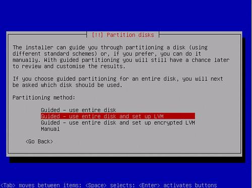 First screen of the Ubuntu Jeos install