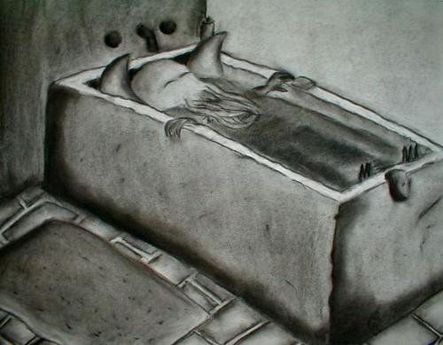 In his bathtub at R'lyeh, dead Cthulhu lies dreaming...