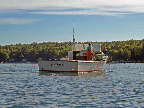Lobsterboat on the Johns River, Maine