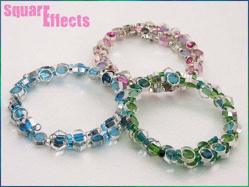 memory wire bracelets from hex necklace, bracelet, earrings sets
