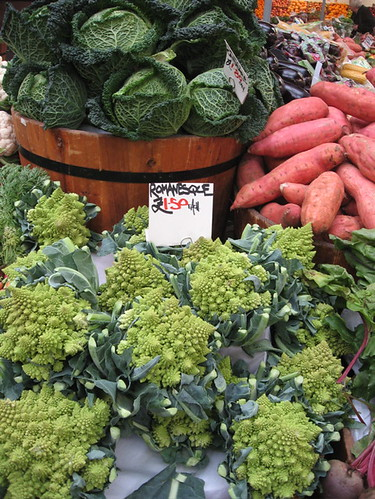 Produce at the Borough Markets. Look, fractals!