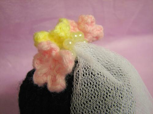 Bride's veil close-up