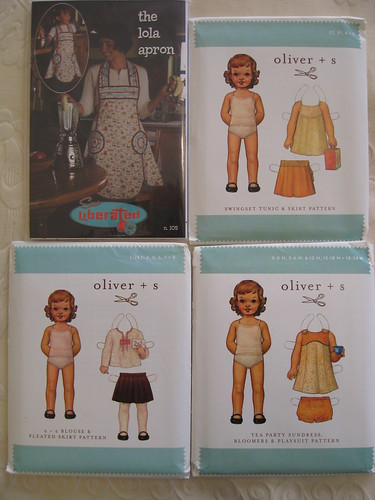 Oliver & S patterns (& Lola apron) by you.