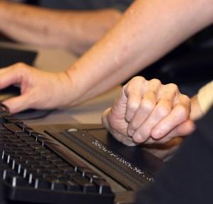 Hands, Deaf-Blind Keyboarding