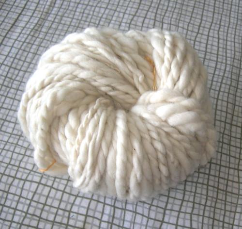 my first plied yarn. 2 merino singles wheel spun