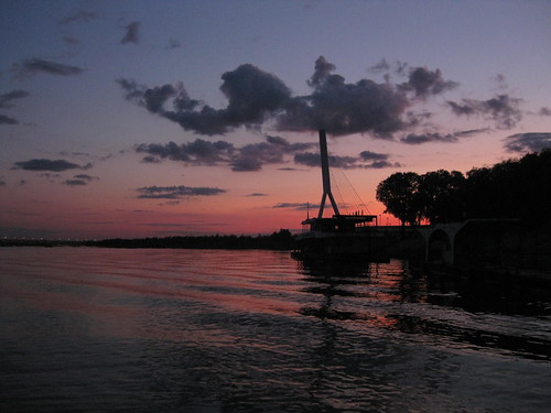 Twilight on Songhua River