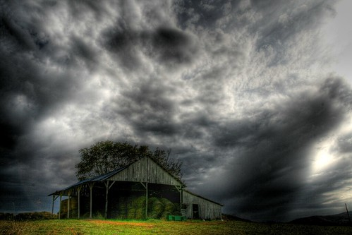 Ominous Skies Over the Farm
