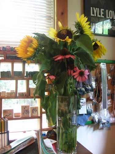 sunflowers and echinaecea