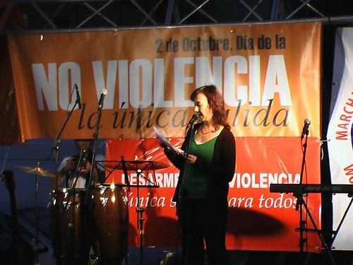 Intervención de Sara Tajuelo en la celebración del Dia de la No Violencia