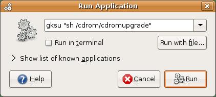 Apabila dialog upgrade tidak otomatis muncul