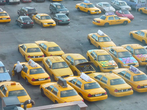 Yellow cab parking, Queens