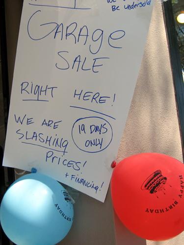 Slashing prices!